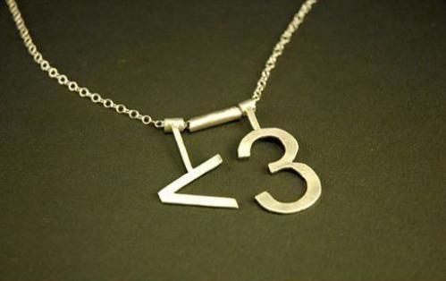 Mathematical Symbols Necklace