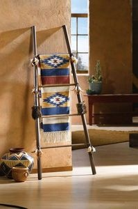 Native American Decorative Items | ... Native American Throw Blanket Ladder Rack Southwestern Decor | eBay