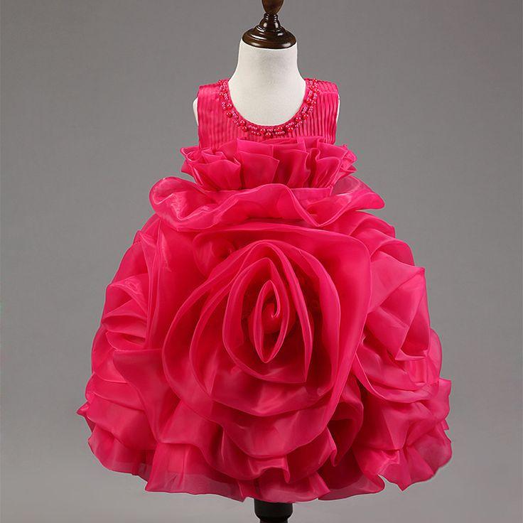 $25.50 (Buy here: https://alitems.com/g/1e8d114494ebda23ff8b16525dc3e8/?i=5&ulp=https%3A%2F%2Fwww.aliexpress.com%2Fitem%2F2015-Summer-Girls-Dress-6-Color-Flower-Girl-Rose-Dress-for-Wedding-Cute-Princess-Chiffon-Dress%2F32334281527.html ) 2015 Summer Girls Dress 6 Color Flower Girl Rose Dress for Wedding Cute Princess Chiffon Dress Girls Baby Dress 2-7 years for just $25.50