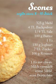 Afternoon-Tea: Rezept für Scones (www.rheintopf.com) Fazit: grandios lecker und in meinen Augen viel besser (da nicht so trocken!) wie das Rezept von Jolijou