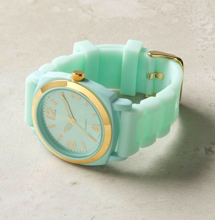 .: Mintgreen, Mint Green, Mint Gold, Tiffany Blue, Viscid Watches, Mint Color, Gold Watches, Cute Watches, Mint Watches