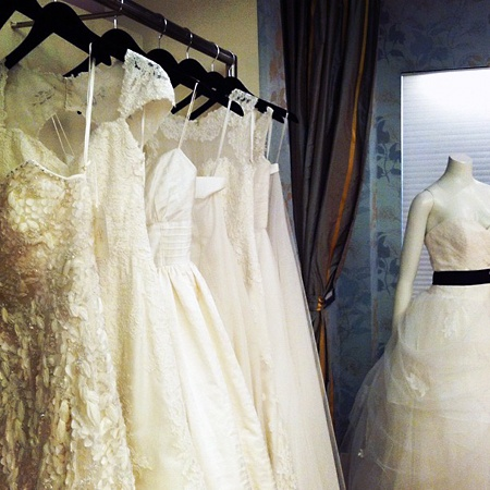 One of my absolute favorite dress designers, Anne Barge Fall 2013 preview in NYC 10/12.    Brides: Anne Barge Wedding Dresses Fall 2013: First Look