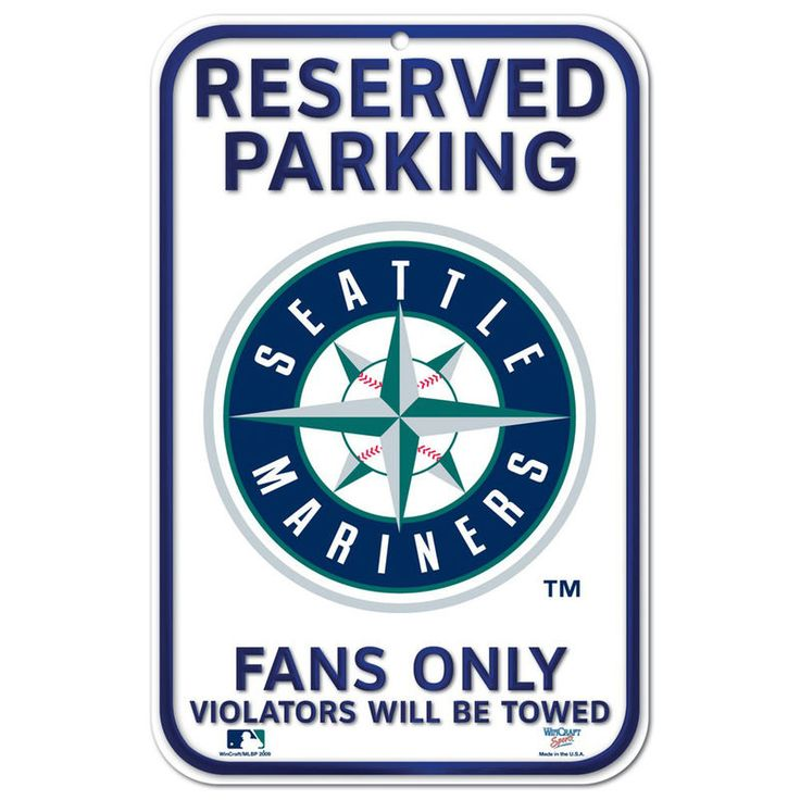 """Seattle Mariners WinCraft 11"""" x 17"""" Plastic Sign"""