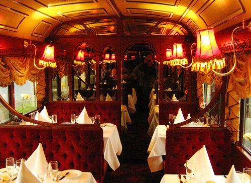 Inside the Tram Car Restaurant, Melbourne