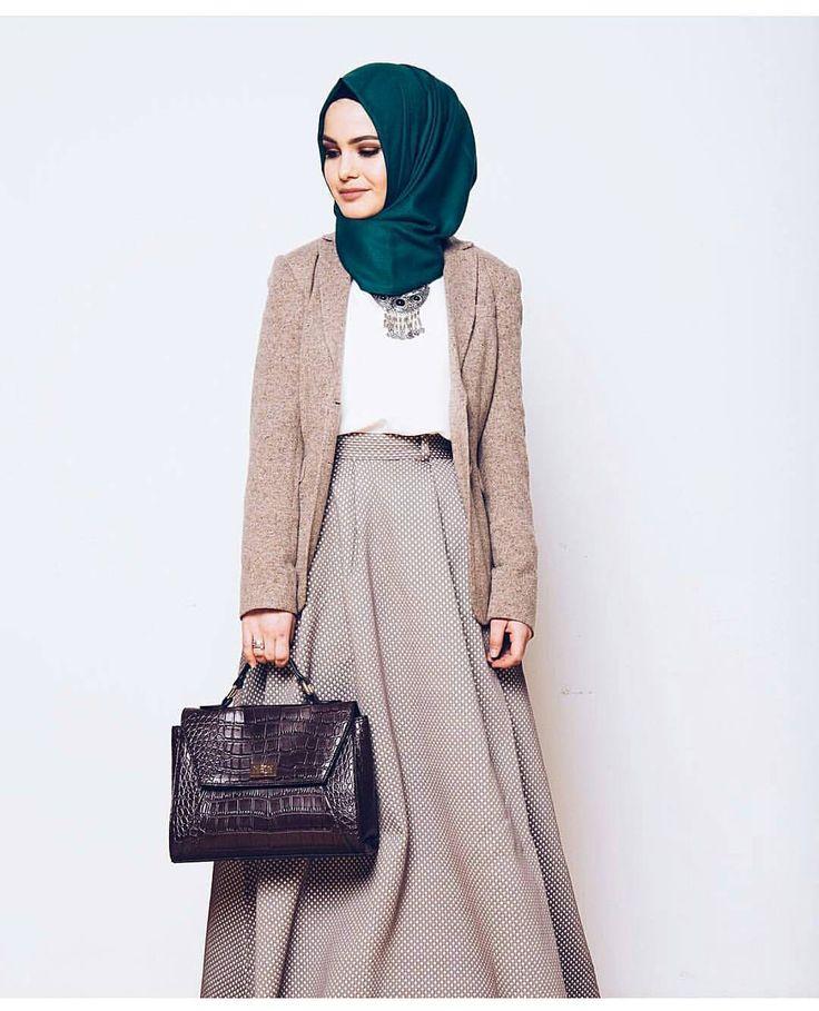 Very professional hijabista pinterest inspiration Fashion style hijab kantor