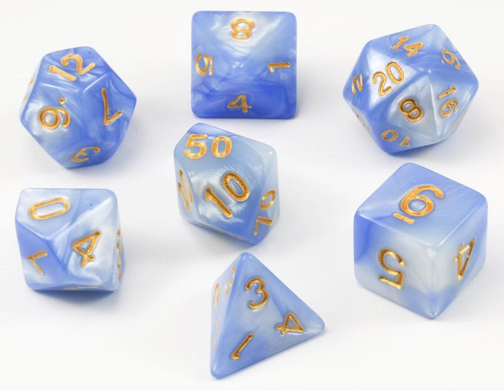 Blended Dice (Frozen) RPG Role Playing Game Dice Set
