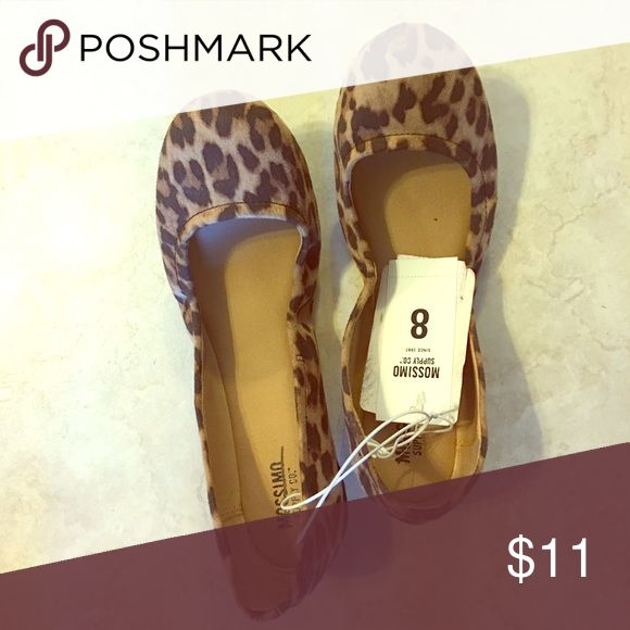 Leopard ballet flats BNWT Mossimo Supply Co Shoes Flats & Loafers