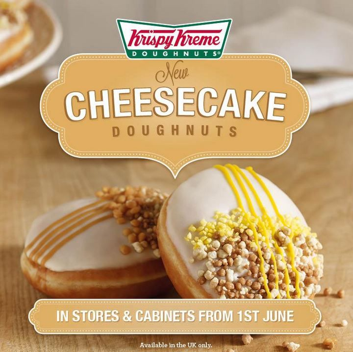 Important: Krispy Kreme's now doing cheesecake doughnuts