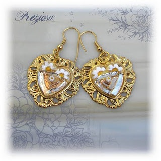 Glass mosaic earrings