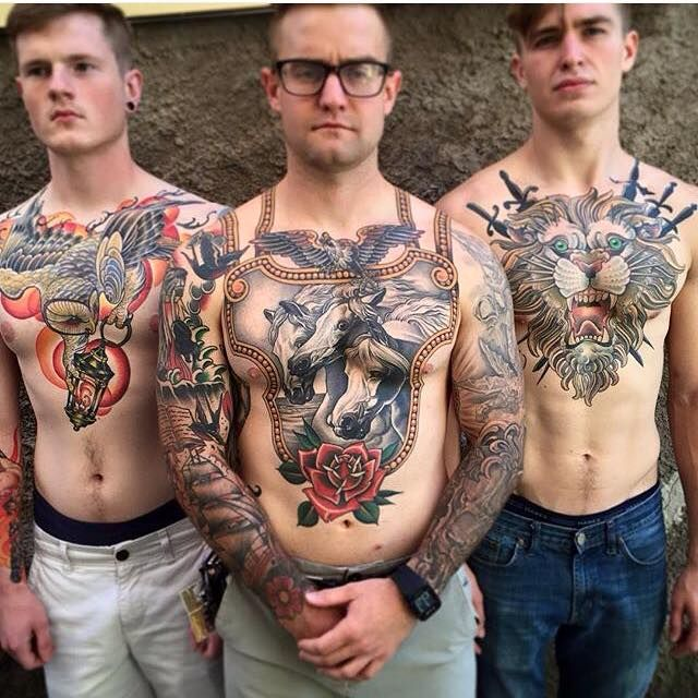 Interesting chest tattoos