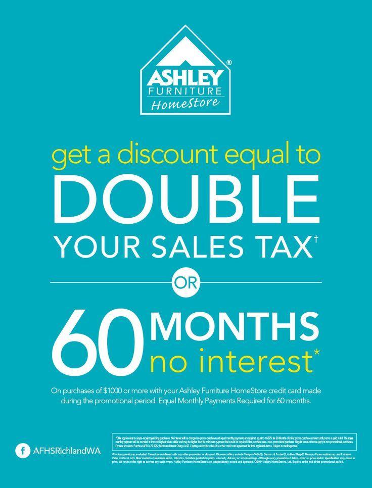 Ashley furniture richland wa save double the sales tax