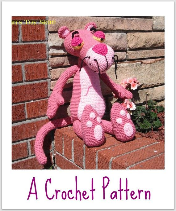 Big Pink Panther A Crochet Pattern by Erin by ErinScullsToyStore, $5.00