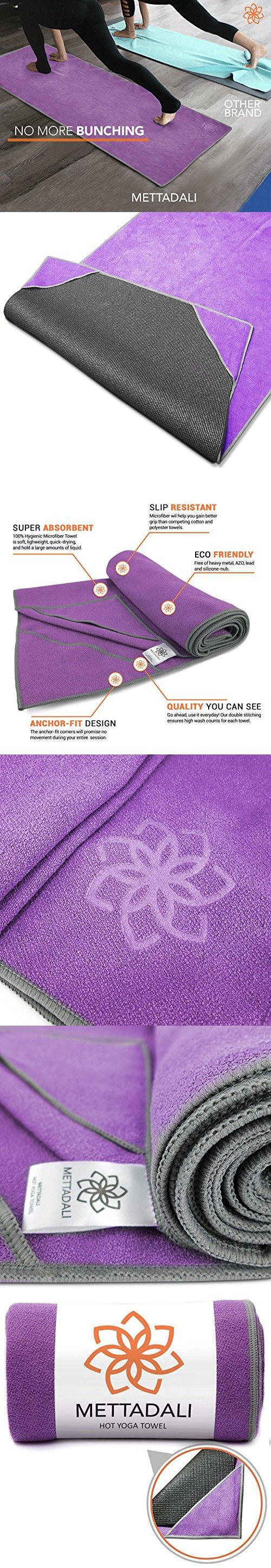Mettadali Machine Washable Yoga Towel - Purple - Medium - 72 x 24 Inch
