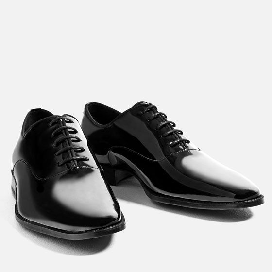 Image 2 of PATENT FINISH OXFORD SHOES from Zara