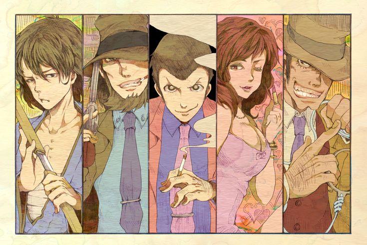 Lupin III, Zenigata Kouichi, Mine Fujiko, Arsene Lupin III, Ishikawa Goemon XIII
