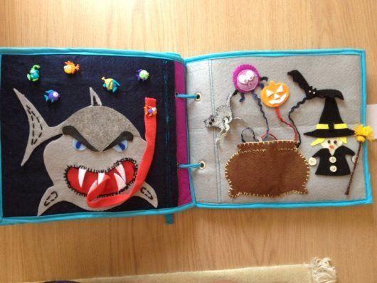 handmade felt book for kids