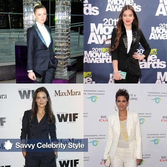 Celebrity women wearing blazers suits