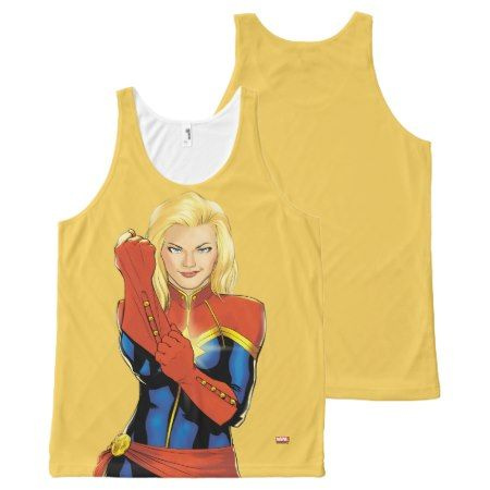 Captain Marvel Fitting Glove All-Over-Print Tank Top - tap to personalize and get yours