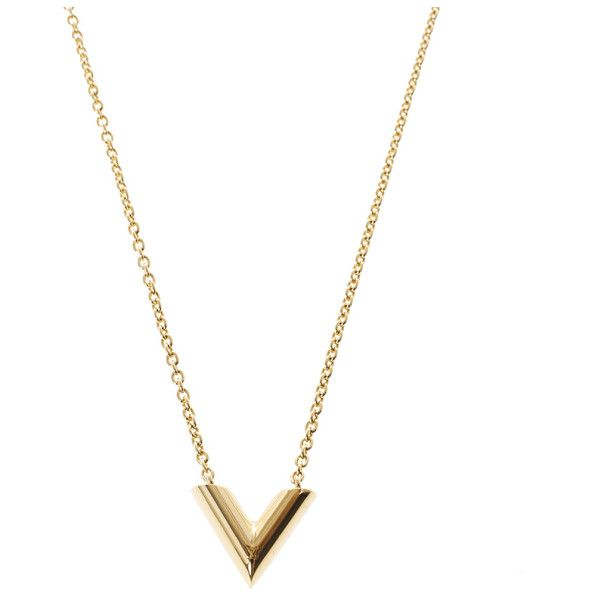 Louis Vuitton Essential V Necklace ❤ liked on Polyvore featuring jewelry, necklaces, louis vuitton, louis vuitton jewelry and louis vuitton necklace