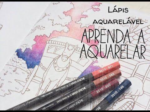Lápis aquarelável - aquarelando com lápis nos livros de colorir - YouTube                                                                                                                                                                                 Mais
