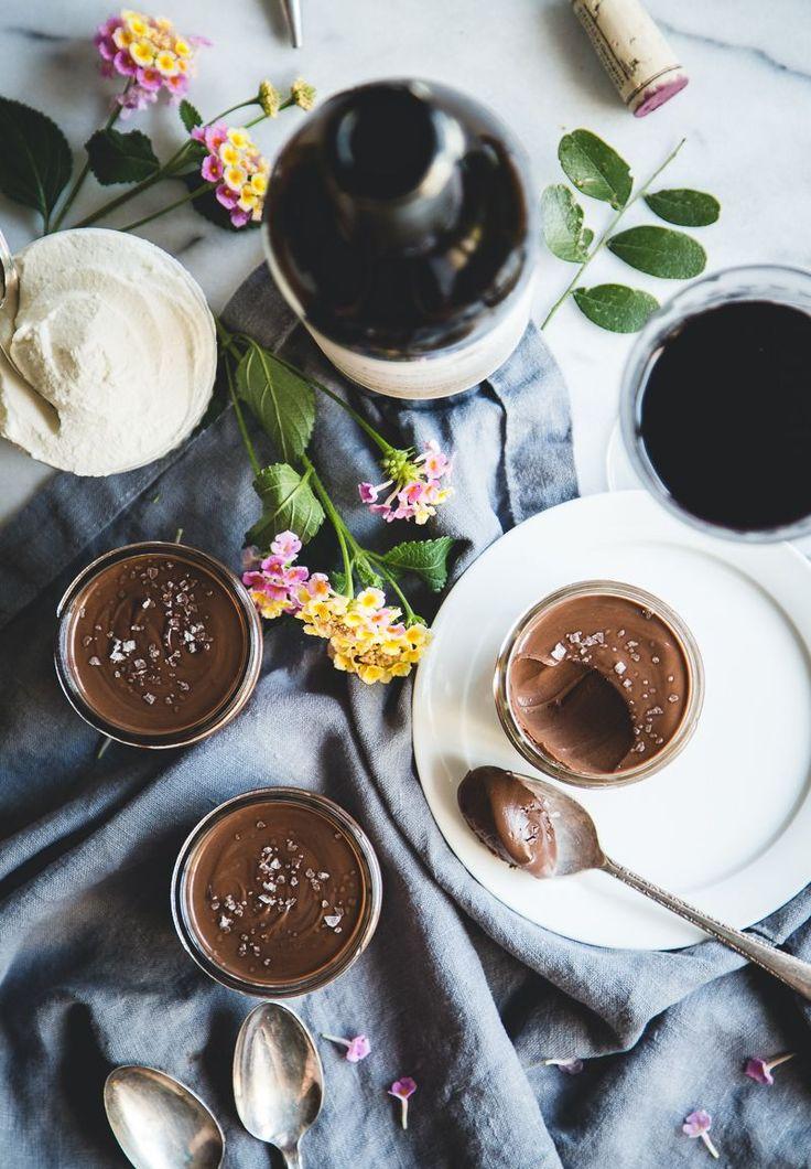 salted dark chocolate pots de creme.