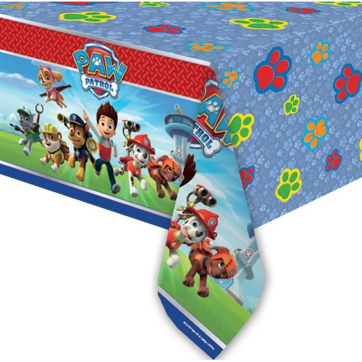 Paw Patrol party tablecover. Size 120x180cm. #PawPatrolParty #PawPatrolPartySupplies #PawPatrolTableware #PawPatrol