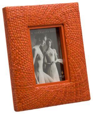 Pandan Picture Frame, Orange - contemporary - frames - KOUBOO