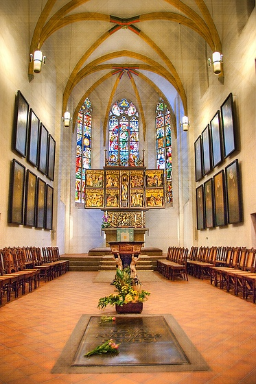 Leipzig ~ Saxony ~ Germany ~ Saint Thomas Lutheran Church ~ This is the burial place of Johann Sebastian Bach.