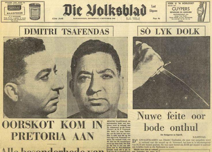 Image result for hendrik verwoerd assassination