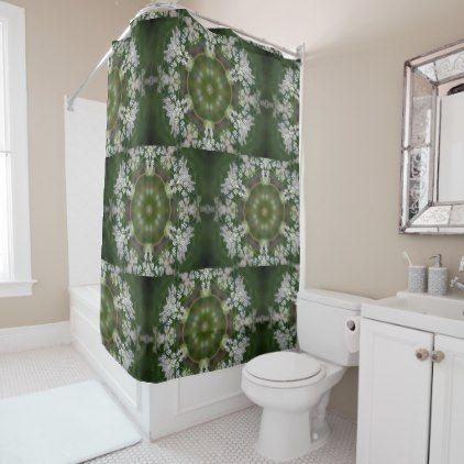 Queen Anne's Lace Shower Curtain - patterns pattern special unique design gift idea diy