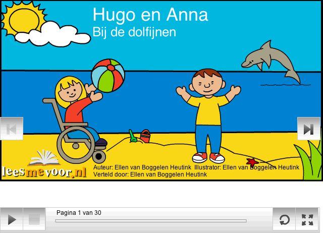 Dit digitale prentenboek vertelt het verhaal van Hugo en Anna, twee bijzondere kinderen. Sommige dingen kunnen ze namelijk niet zo goed. Ze gaan iets heel leuks doen. Ze gaan op vacantie zwemmen met dolfijnen! Zouden ze dat wel goed kunnen?