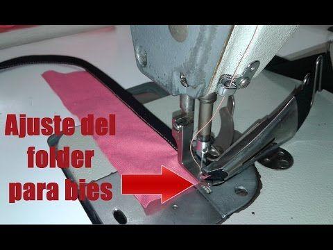 Como ajustar el folder para bies en la recta. facil | mecanica confeccion