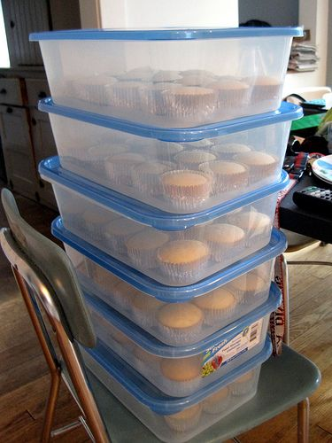 How to Store Cupcakes - much better for transporting or party planning, make ahead and have another tote with prefilled icing bags and decorations