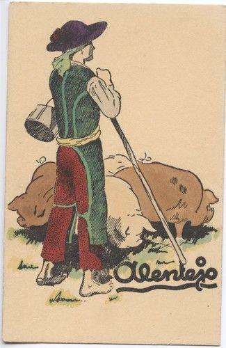 Evora : Costume do Alentejo - Pastando porcos