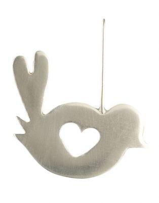 Lady Peculiar Large Bird Earrings Silver