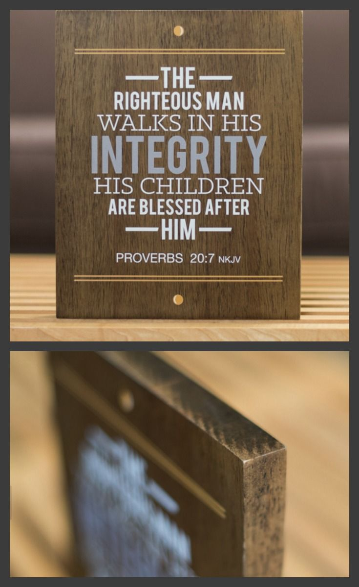 Solid wooden plaque with scripture  for Dad. Great Fathers Day gift. Exclusive only available until May 31st. SOLD OUT