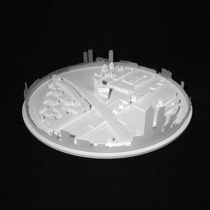 CIVIC architects - Panamalaan Residential Block - Amsterdam   Model