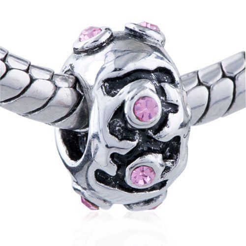 Pugster Bead October Birthstone Black Flower European Charm Bead Fit Pandora Chamilia Biagi Charm Bracelet Pugster. $10.99. Unthreaded European story bracelet design. Pugster are adding new designs all the time. Fit Pandora, Biagi, and Chamilia Charm Bead Bracelets. Free Jewerly Box. Money-back Satisfaction Guarantee