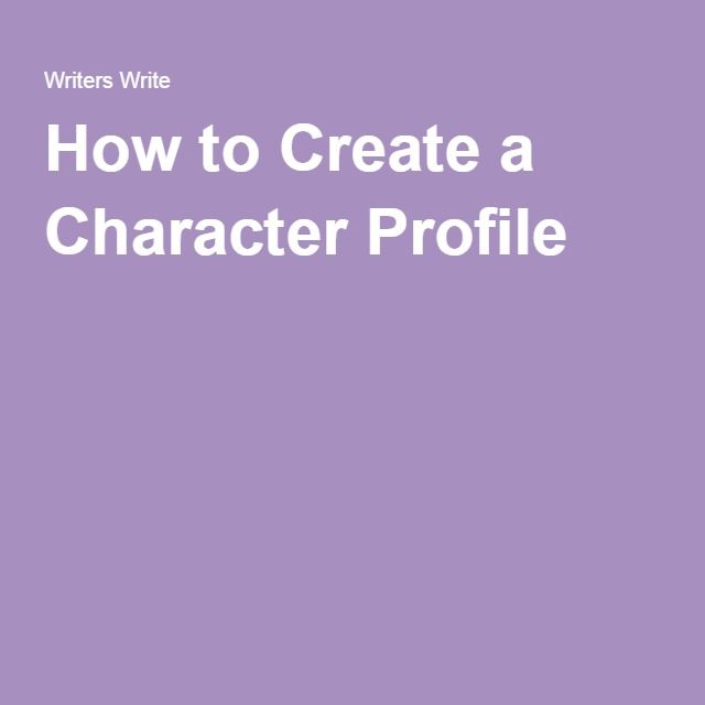 creative writing now character profile Mastering POV