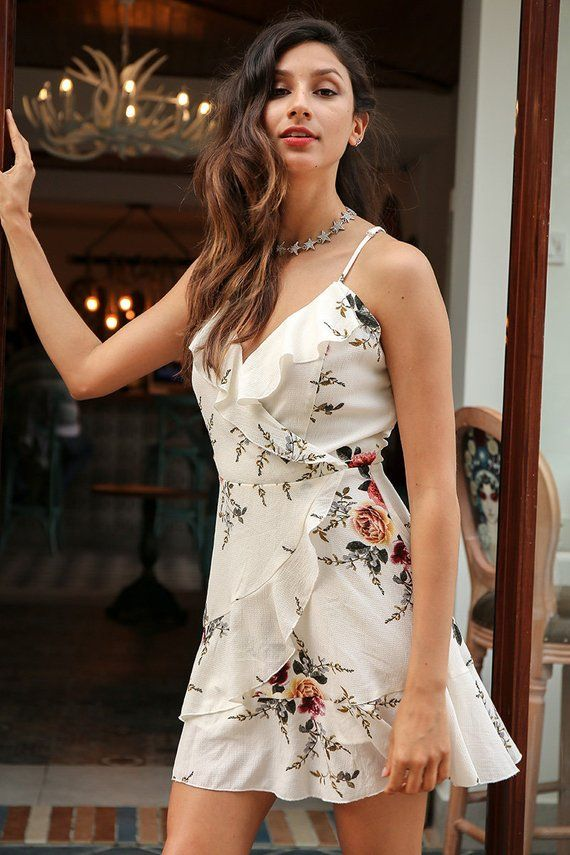 375b5e5fe5 bohemian style sexy dress Casual party short dress ruffles floral print  summer dress women Deep v neck bohemian maxi backless party dress