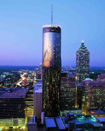 SunDial revolving restaurant atop the Peachtree Hotel in Atlanta, GA