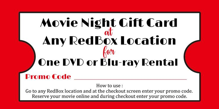 Looking for a creative, easy, and usable gift for anyone in your life? This couldn't be easier! You can purchase Redbox codes to be used for a free movie rental! Just write the code on this tag and attach it to some popcorn, candy, or a basket full of movie treats