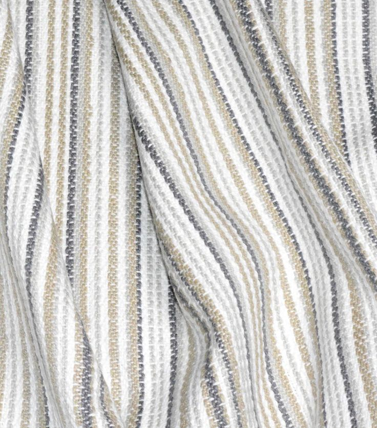 Waverly Upholstery Fabric 54\u0027\u0027-Linen Rustic Stripe,