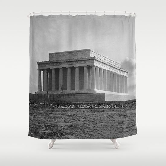 ... Shower Curtain by BravuraMedia | Lincoln, Shower Curtains and