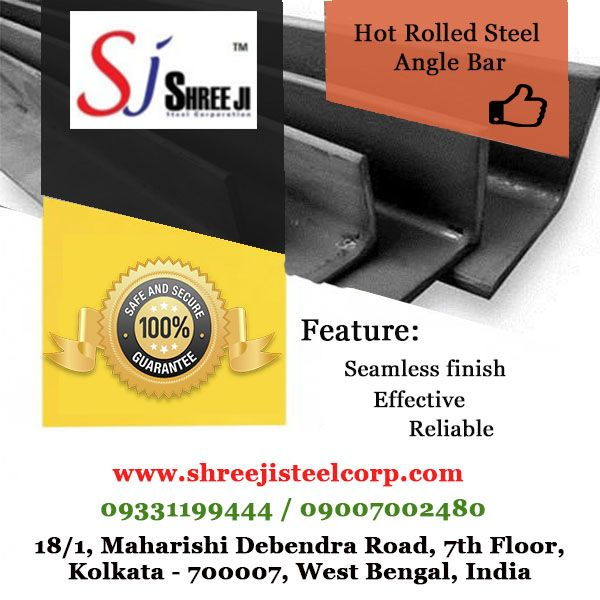 Shree Ji Steel Corporation supplies a wide range of Hot Rolled Steel Angle Bar. Hot Rolled Steel Angle Bar are used for manufacturing of truck-trailers, EOT crane and Gantry, escalators and elevators, ship building, factory sheds, bus body, communication and transmission towers, conveyors, boilers, agricultural equipment, and construction of bridges, scaffolding and many more fabrication and engineering industries.  To know in more details, please call us at +919331199444