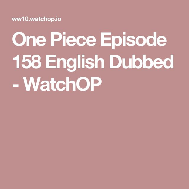 One Piece Episode 158 English Dubbed - WatchOP