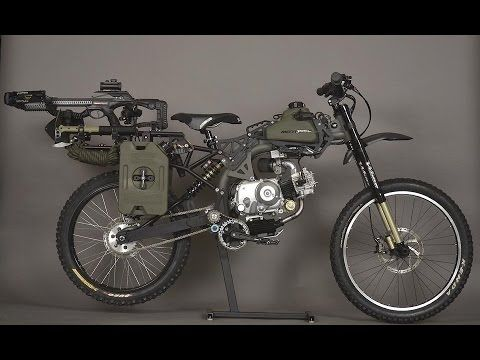 Brave New Gear - Een DIY survival gemotoriseerde fiets - Motopeds Survival Bike Black Ops Edition - Brave New Gear
