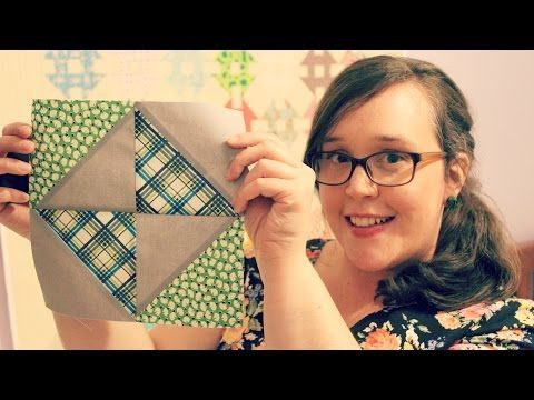 TUTORIAL: Broken Dishes Block posted by Amanda Rolfe  3and3quarters - YouTube-4:58min..In today's block tutorial we focus on how to make the uber-tradtional Broken Dishes Block. Pieced together using just four HSTs*, this block is super simple and is perfect for beginners who are ready to move on from piecing squares!