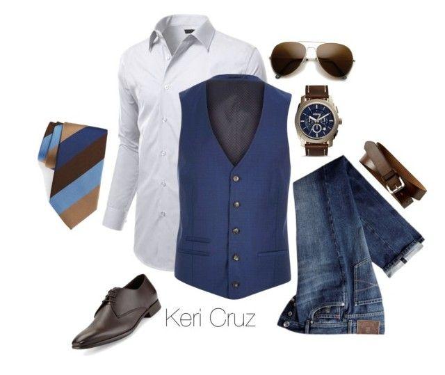 Business Casual for Men by keri-cruz on Polyvore featuring polyvore, Brunello Cucinelli, River Island, Giorgio Armani, FOSSIL, DAVID DONAHUE, Banana Republic, men's fashion, menswear and clothing