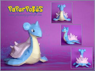 Easy Pokemon Papercraft | PaperPokés - Pokémon Papercrafts: LAPRAS V2